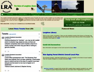 loughtonresidents.co.uk screenshot