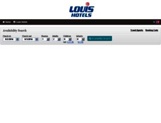 louishotels.reserve-online.net screenshot