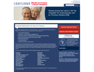 louisianahearthospital.com screenshot
