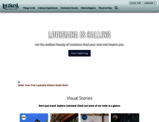 louisianatravel.com screenshot
