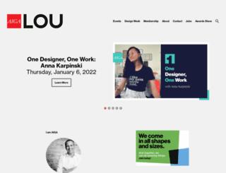 louisville.aiga.org screenshot