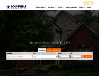 louisvilleproperties.com screenshot