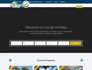 lounge-holidays.co.uk screenshot