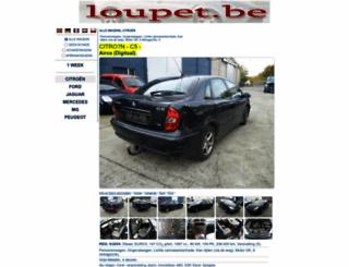 loupet.be screenshot