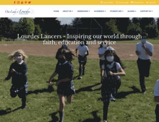 lourdesvan.org screenshot