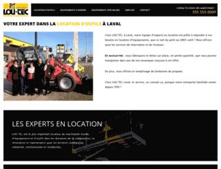 loutec.democlient.ca screenshot