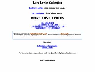 love-lyrics-collection.com screenshot