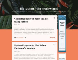 love-python.blogspot.it screenshot