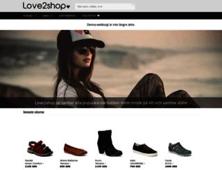 love2shop.se screenshot