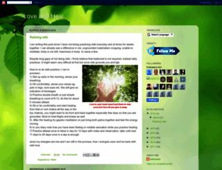 loveandheal.blogspot.in screenshot