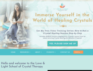 loveandlighthealingschool.com screenshot