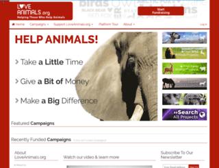 loveanimals.org screenshot