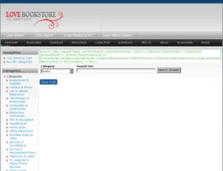 lovebookstore.com screenshot