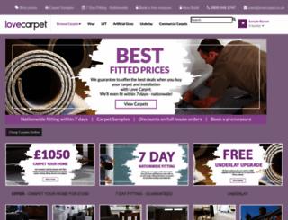 lovecarpet.co.uk screenshot