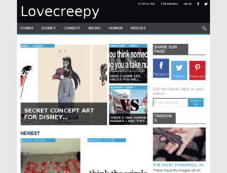 lovecreepy.net screenshot