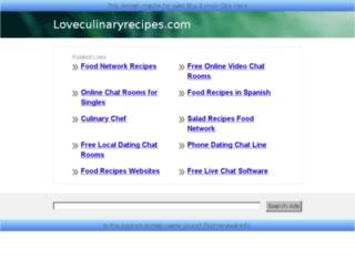 loveculinaryrecipes.com screenshot