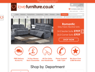 lovefurniture.co.uk screenshot