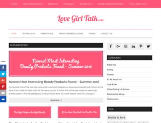 lovegirltalk.com screenshot