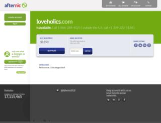 loveholics.com screenshot