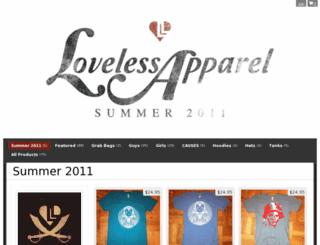 lovelessapparel.storenvy.com screenshot