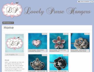 lovelypursehangers.storenvy.com screenshot