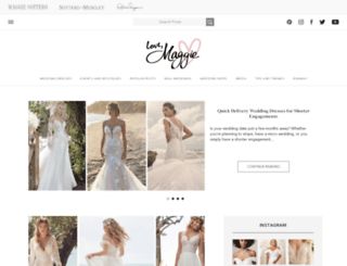 lovemaggie.maggiesottero.com screenshot