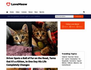lovemeow.com screenshot