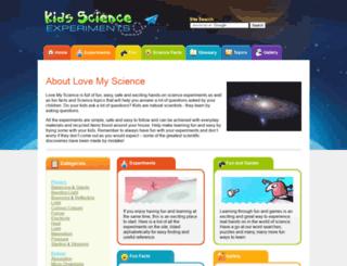 lovemyscience.com screenshot