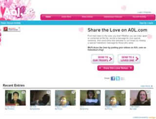 lovenotes.votigo.com screenshot