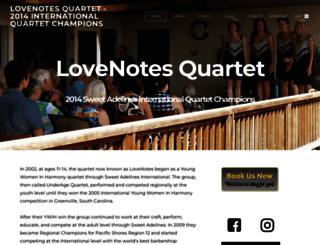 lovenotesquartet.com screenshot