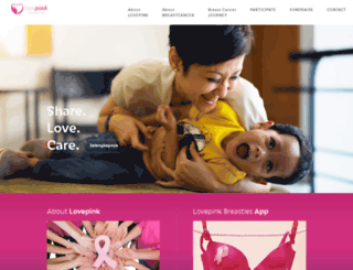 lovepinkindonesia.org screenshot