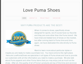 lovepumashoes.com screenshot