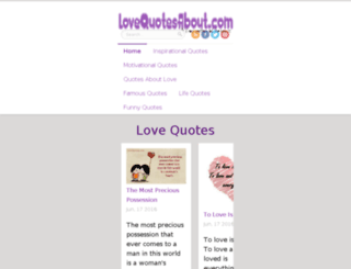 lovequotesabout.com screenshot