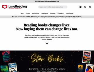 lovereading.co.uk screenshot