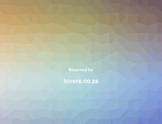 lovers.co.za screenshot