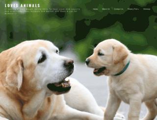 loves-animals.com screenshot