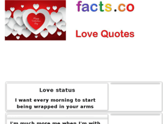lovestatus.facts.co screenshot
