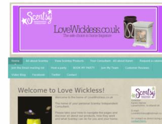 lovewickless.co.uk screenshot