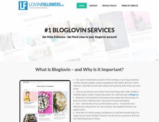 lovinfollowers.com screenshot