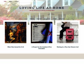 lovinglifeathome.wordpress.com screenshot