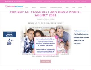 lovingnannies.com screenshot