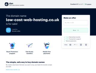 low-cost-web-hosting.co.uk screenshot