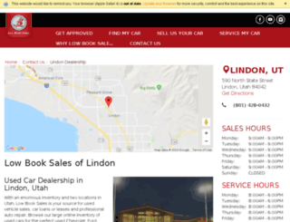 lowbooksaleslindon.com screenshot