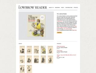 lowbrowreader.com screenshot