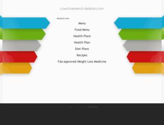 lowcholesterol-dietplan.com screenshot
