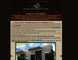 lowcost.cebuhousing.net screenshot