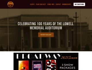 lowellauditorium.com screenshot