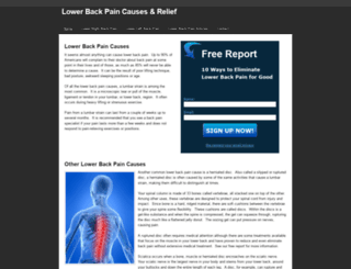 lowerbackpaincauses.weebly.com screenshot