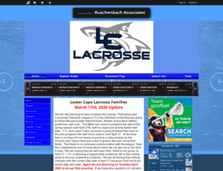 lowercapelax.uslaxteams.com screenshot