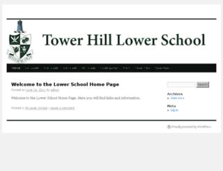 lowerschool.towerhill.org screenshot